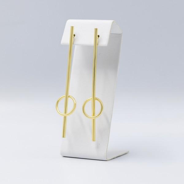 Kolczyki pozłacane kółka z belką