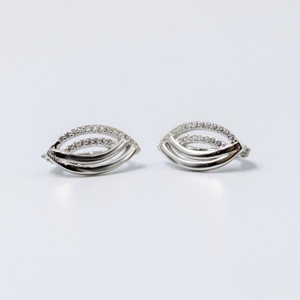 Kolczyki srebrne z cyrkoniami - łezki