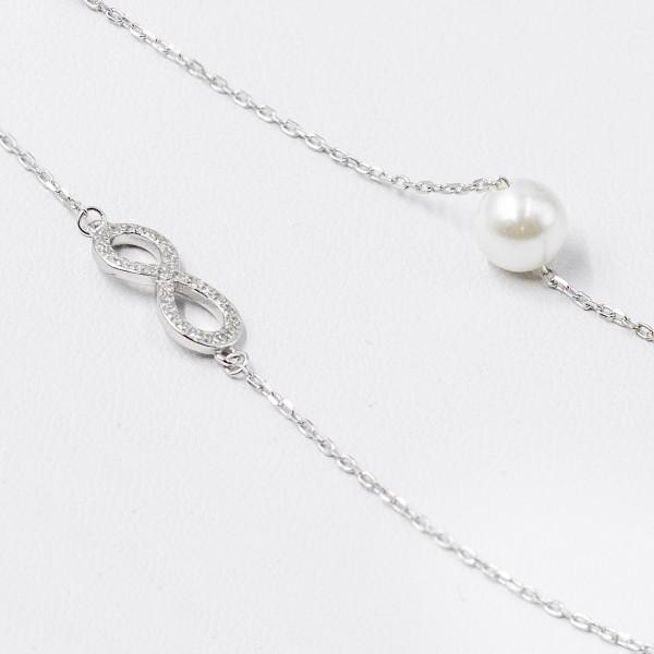 Bransoletka srebrna - nieskończoność,...
