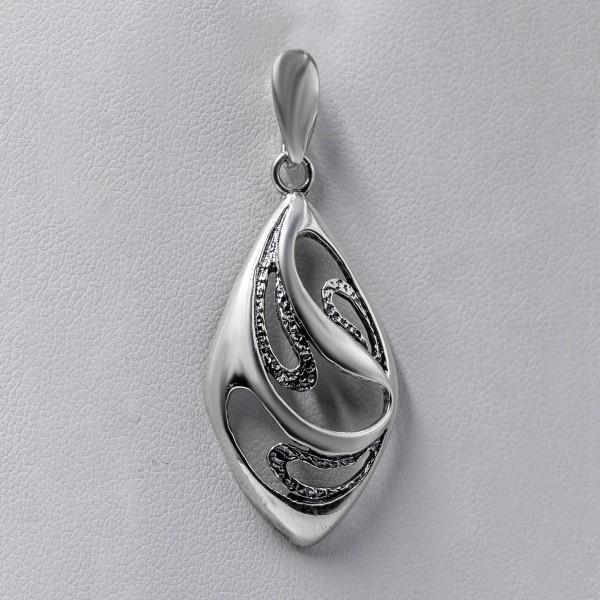 Zawieszka srebrna - łezka ażurowa