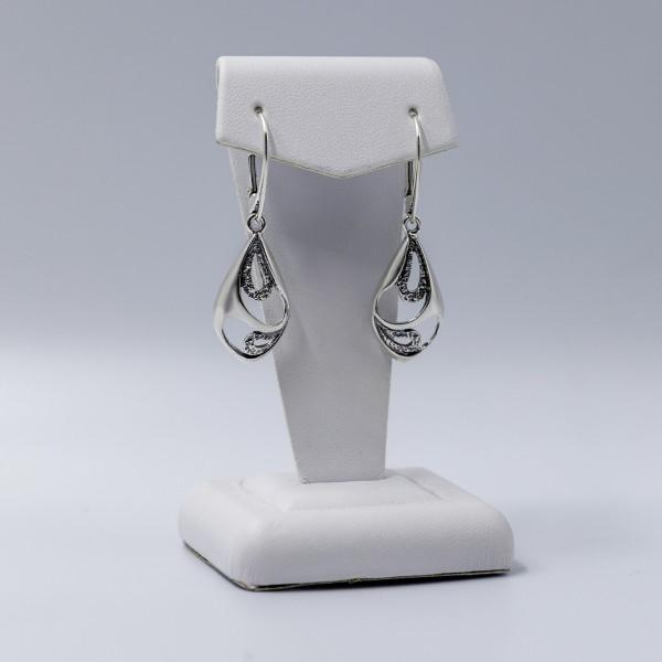Kolczyki srebrne - łezki ażurowe