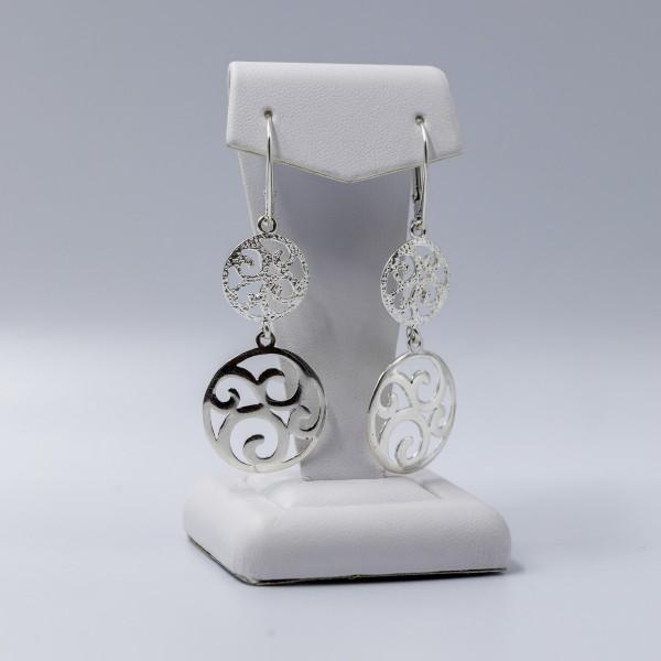 Kolczyki srebrne - ażurowe koła