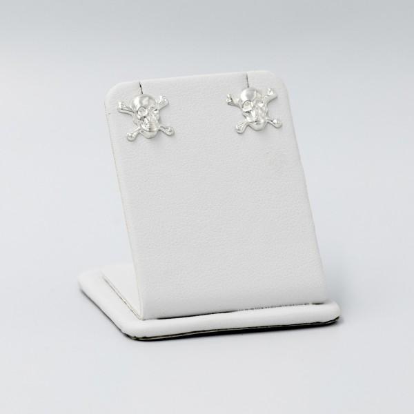 Kolczyki srebrne - czaszki