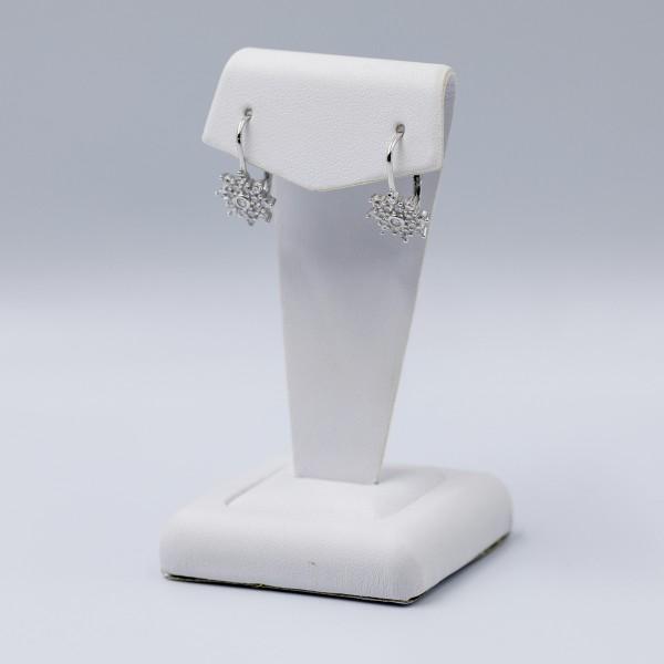 Kolczyki srebrne z cyrkoniami - kwiatki