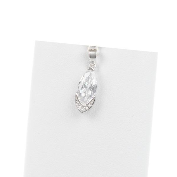 Zawieszka srebrna - kryształek łezka...