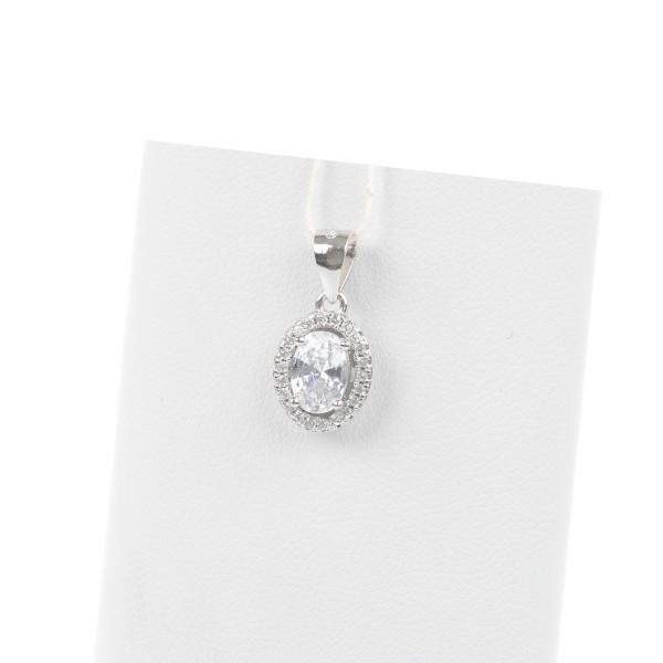 Zawieszka srebrna - kryształek z...