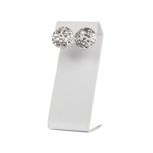Kolczyki srebrne - eleganckie koła