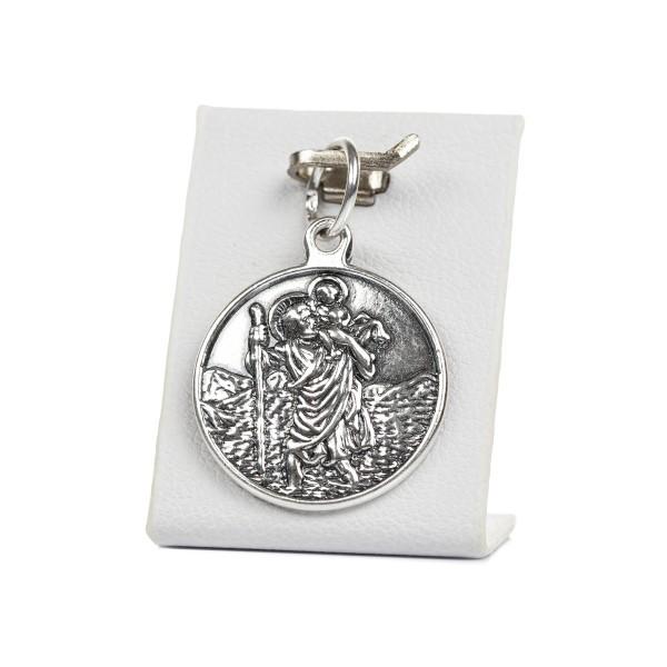 Medalik srebrny - Święty Krzysztof