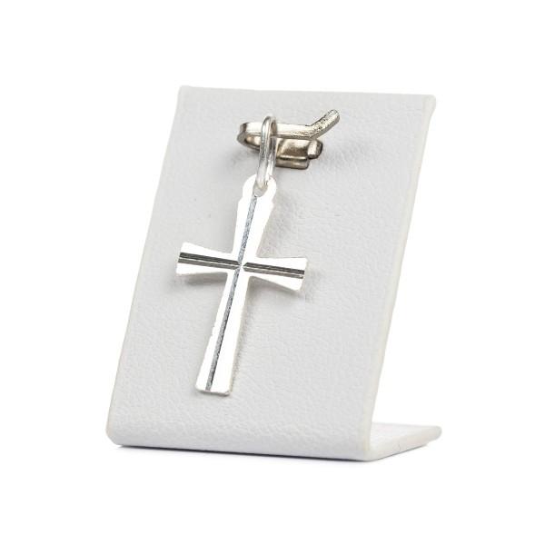 Krzyżyk srebrny, klasyczny ze...