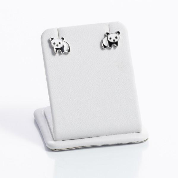 Kolczyki srebrne dziecięce - pandy