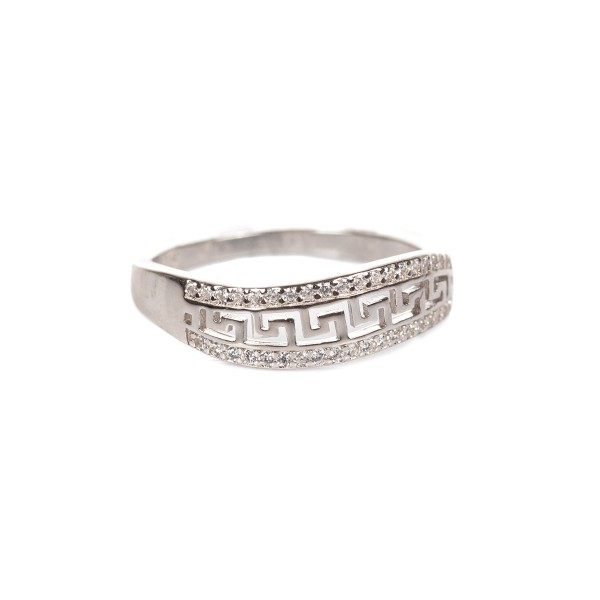 Pierścionek srebrny - grecki wzór