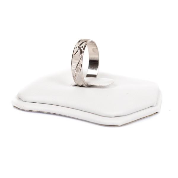 Obrączka srebrna - ozdobny wzór