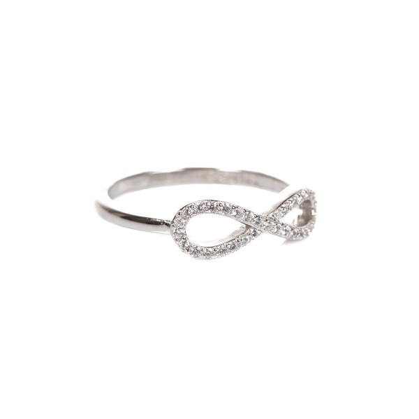 Pierścionek srebrny - nieskończoność...