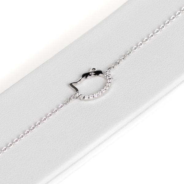 Bransoletka srebrna - Hello Kitty z...
