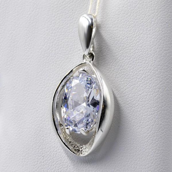 Zawieszka srebrna - kryształ