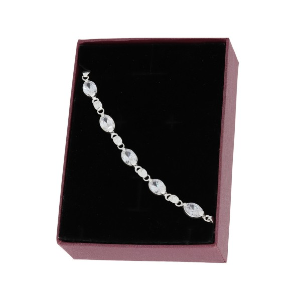 Bransoletka srebrna - piękne, okrągłe...