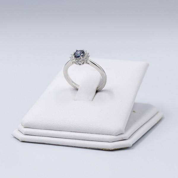 Pierścionek srebrny -  kolorowy...