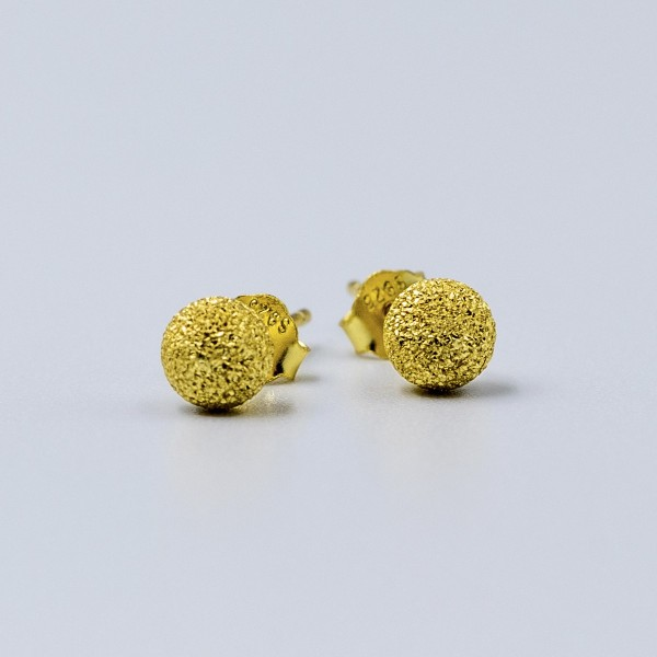 Kolczyki pozłacane - złote kulki