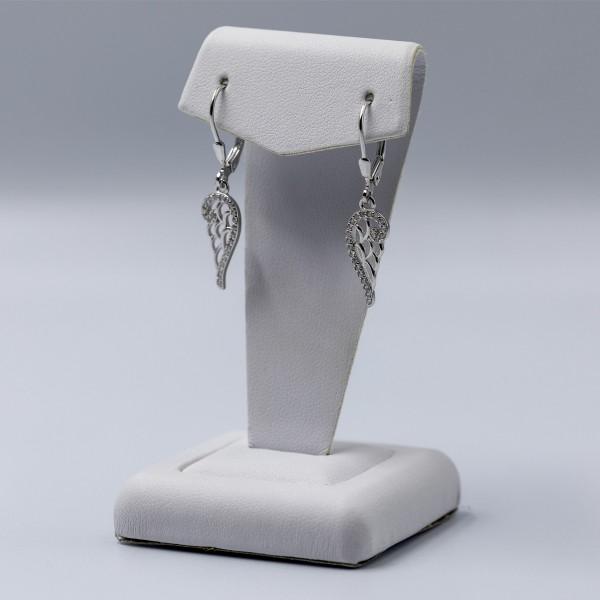 Kolczyki srebrne - skrzydła anioła