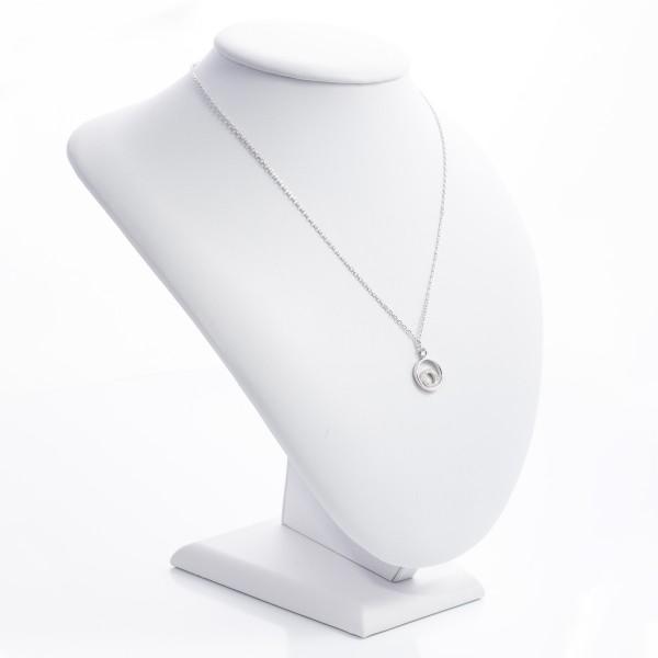 Naszyjnik srebrny - podwójne koła